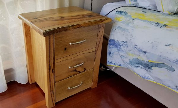 Woodvale Raw 3 drawer Marri Bedside Table