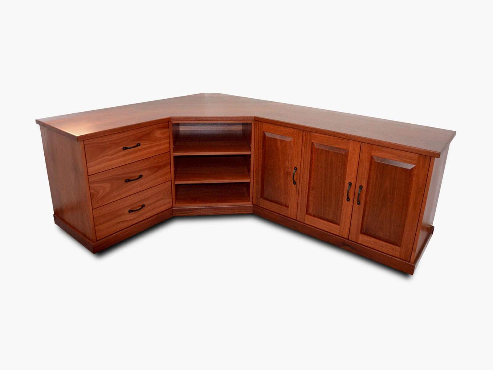 Tuart Hill Jarrah Corner TV Unit