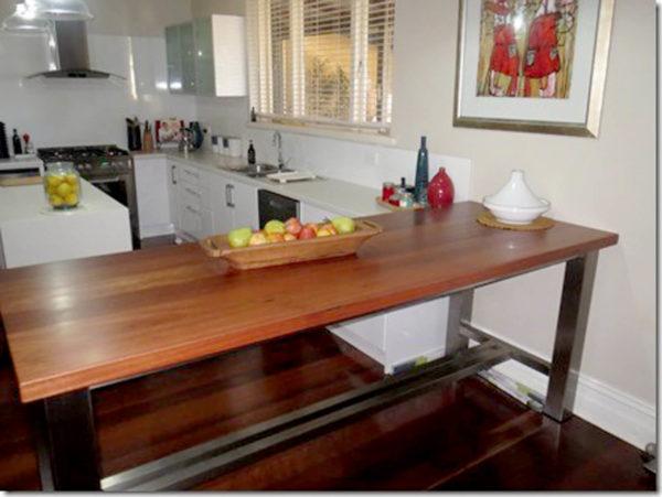 York-Jarrah-and-Stainless-Bar-Table 2 Timber Furniture