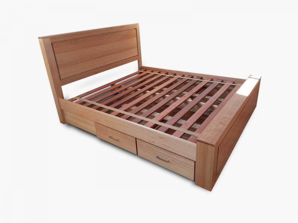 Bedfordale-King-Bed-Drawers-2 Timber Furniture