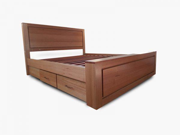Bedfordale-King-Bed-Drawers Timber Furniture