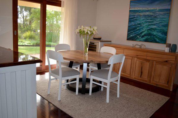 Mundaring-Round-Dining-2 Timber Furniture