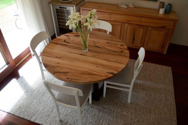 Mundaring-Round-Dining-4 Timber Furniture
