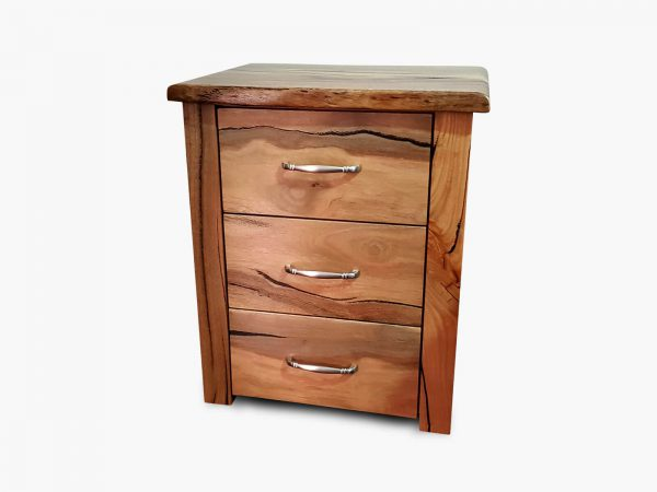Woodvale-Raw-3-drawer-Bedside Timber Furniture
