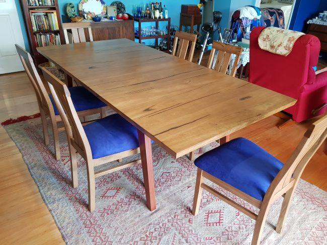 Rectangular Marri Dining Table with Chairs